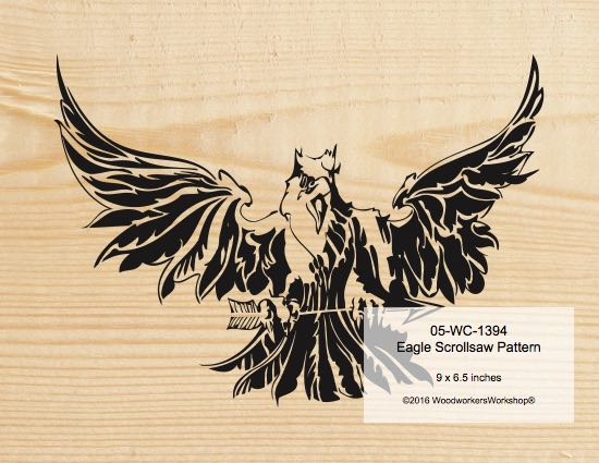 Eagle Scrollsaw Woodworking Pattern woodworking plan