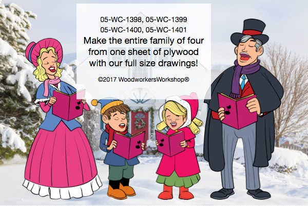 05-WC-1398 - Christmas Caroler Father Yard Art Woodworking Pattern