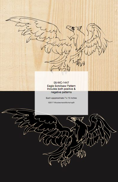Eagle Positive and Negative Scrollsaw Woodworking Pattern woodworking plan