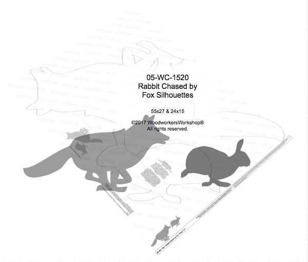 Rabbit Chased by Fox Yard Art Woodworking Pattern woodworking plan