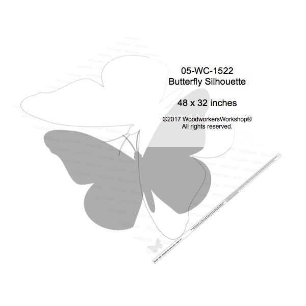 05-WC-1522 - Butterfly 4 ft wide Yard Art Woodworking Pattern