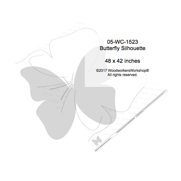 Butterfly 4 ft wide Yard Art Woodworking Pattern