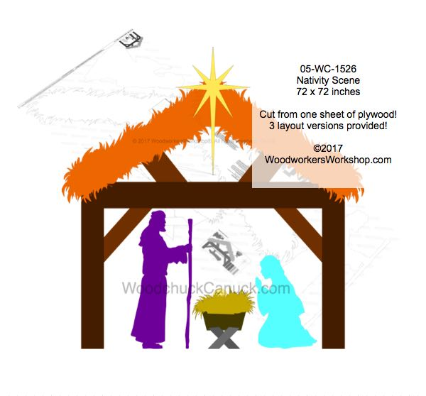 Nativity Scene One Sheet Plywood Yard Art Woodworking Pattern
