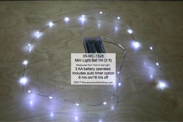 LED Mini Light Set 1 m Cool White with Auto On-Off Timer woodworking plan