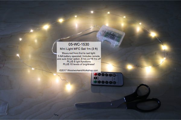 LED Mini Light Set 1 m Warm White MFC with Remote