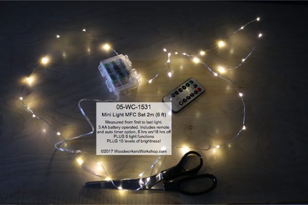 LED Mini Light Set 2 m Warm White MFC with Remote woodworking plan