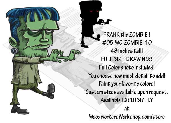 Frank the Zombie Yard Art Woodworking Pattern