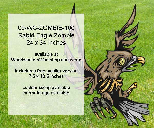 Rabid Eagle Zombie Yard Art Woodworking Pattern