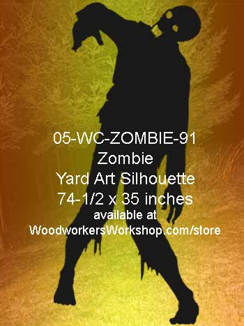 Norman the Zombie Yard Art Woodworking Pattern