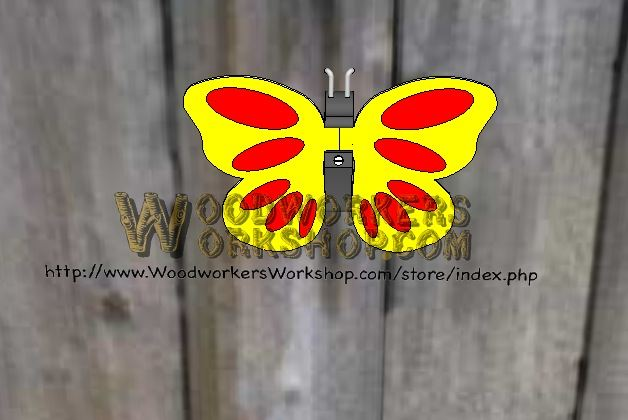 Butterflies Scrollsaw Woodworking Plan