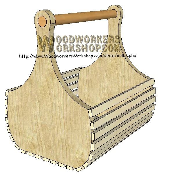 basket for wine and gifts downloadable scrollsaw woodworking plan