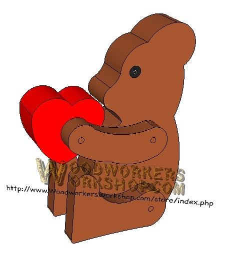 Teddy Bear Critter Downloadable Scrollsaw Woodworking Plan