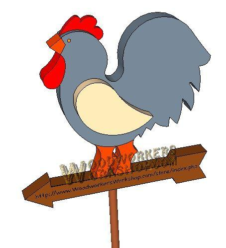 Rooster Rack Downloadable Scrollsaw Woodworking Plan