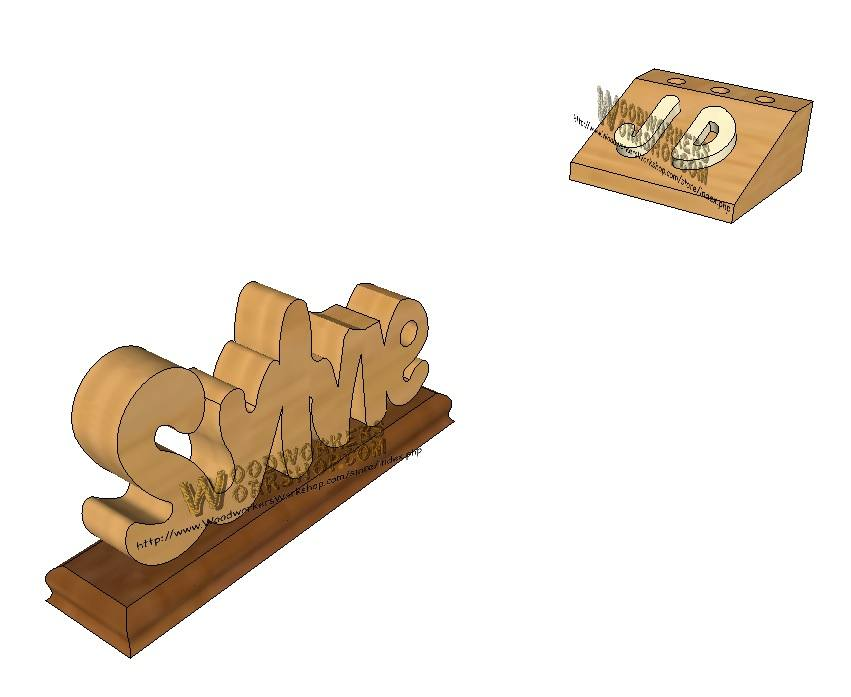 Desk Plaque and Pencil Block Downloadable Scrollsaw Craft Pattern