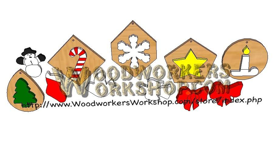 05-WP-032 - 10 Christmas Ornaments Downloadable Scrollsaw Wood Craft Plan PDF