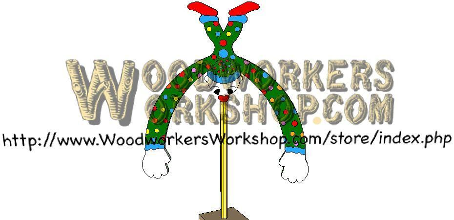 Clowning Around Balance Toy Downloadable Scrollsaw Wood Craft Plan
