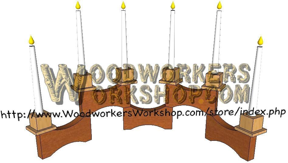 05-WP-035 - Modular Candle Stand Downloadable Scrollsaw Woodworking Plan PDF