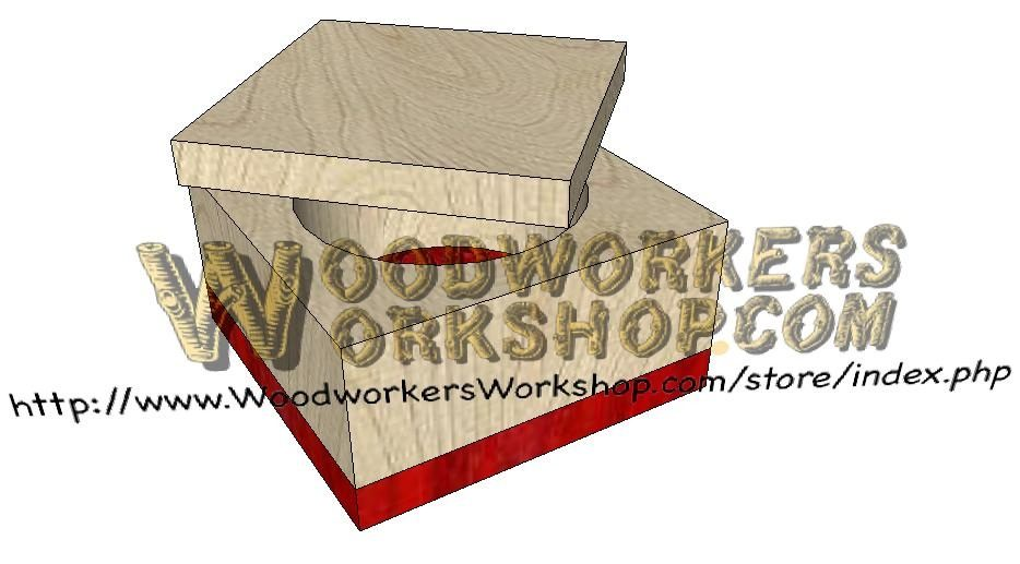Holesaw Box Downloadable Scrollsaw Woodworking Plan