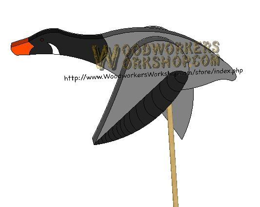 Flying Goose or Duck Downloadable Scrollsaw Woodworking Plan