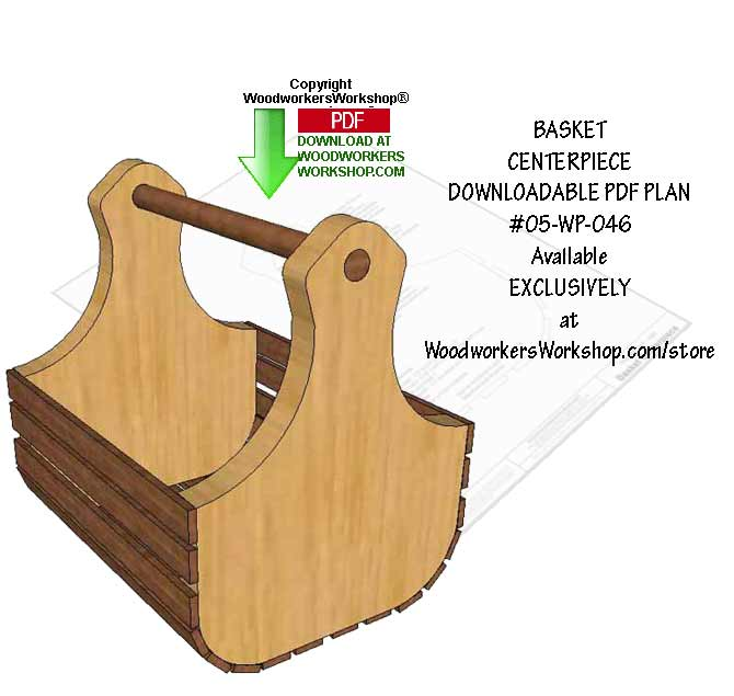 Basket Centerpiece Downloadable Scrollsaw Woodworking Pattern