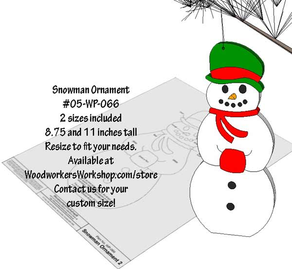 05-WP-066 - Snowman Ornament Downloadable Scrollsaw Woodworking Plan PDF