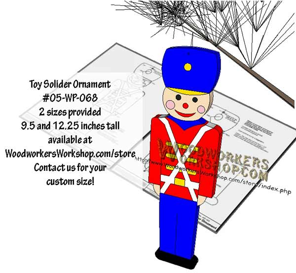 Toy Solider Downloadable Scrollsaw Woodworking Plan