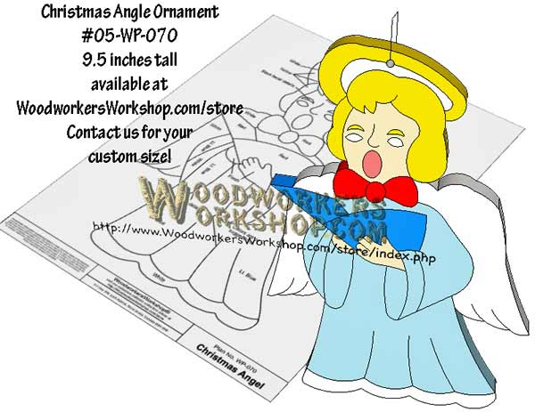 05-WP-070 - Christmas Angel Ornament Downloadable Scrollsaw Woodworking Plan PDF