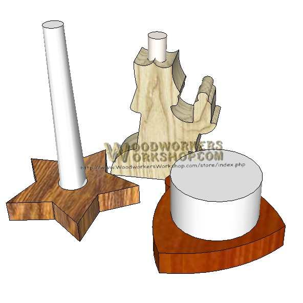 05-WP-072 - Christmas Candle Holders Downloadable Scrollsaw Woodworking Plan PDF