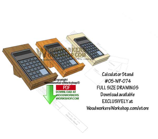 Calculator Stand Downloadable Scrollsaw Woodworking Pattern