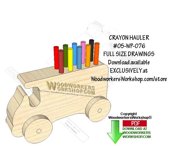 Crayon Hauler Downloadable Scrollsaw Woodworking Pattern