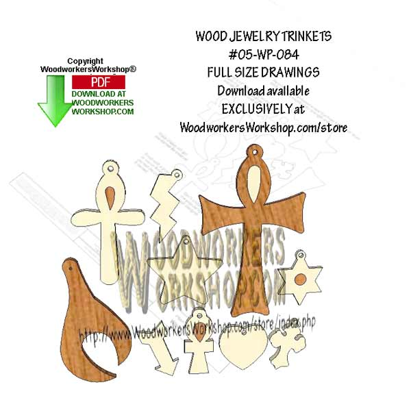 Wood Jewelry Trinkets Downloadable Scrollsaw Woodworking Pattern