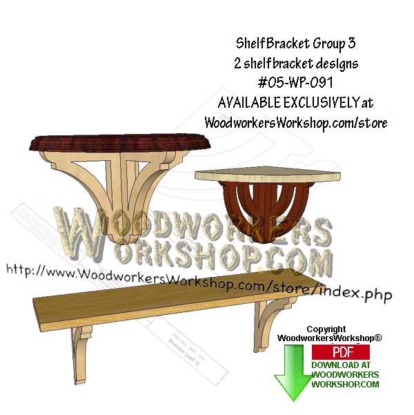 2 Shelf Bracket Group 3 Downloadable Scrollsaw Woodworking Pattern