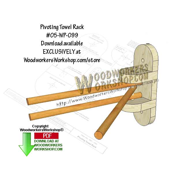 05-WP-099 - A Pivoting Towel Rack Downloadable Scrollsaw Woodworking Pattern PDF