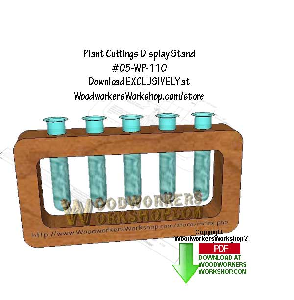 Plant Cutting Stand Downloadable Scrollsaw Woodworking Pattern