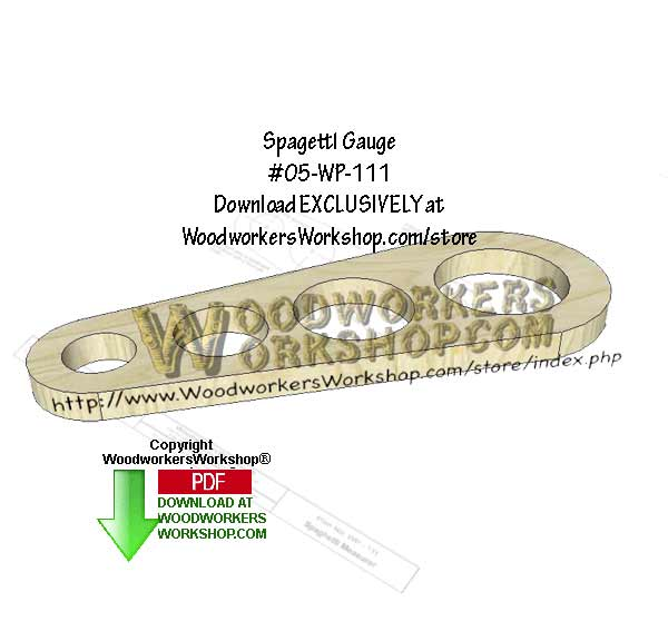 Spaghetti Gauge Downloadable Scrollsaw Woodworking Pattern