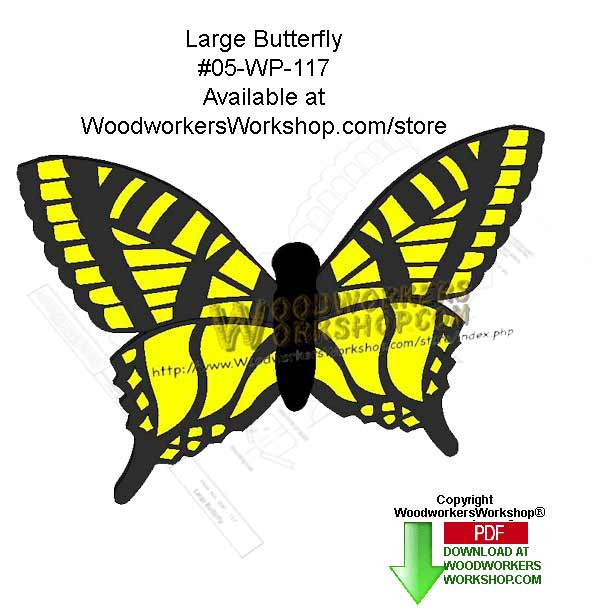 Butterfly Downloadable Scrollsaw Woodcrafting Pattern