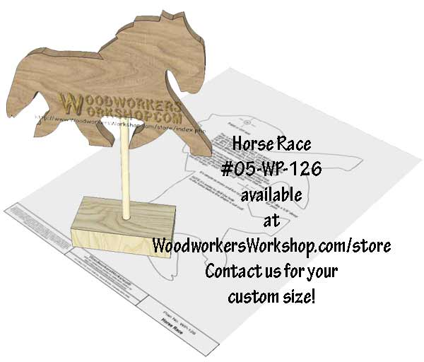 Horse Race Downloadable Scrollsaw Woodworking Plan