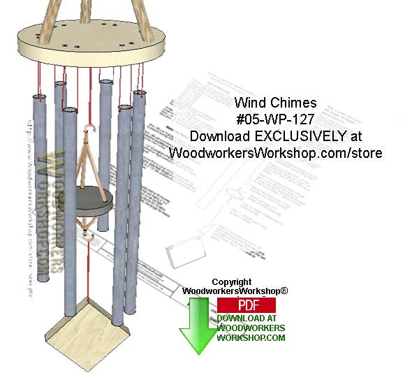 Wind Chimes Downloadable Scrollsaw Woodcrafting Pattern