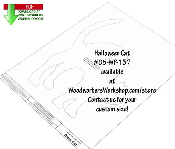 Halloween Cat Downloadable Scrollsaw Woodworking Plan