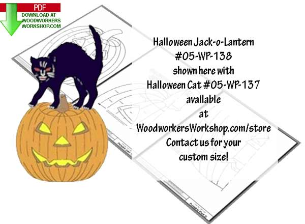 Halloween Jack-o-Lantern Downloadable Scrollsaw Woodworking Plan