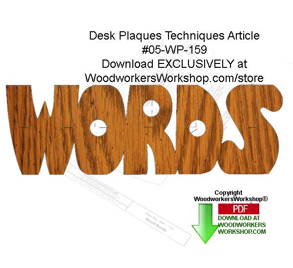 Desk Plaques Downloadable Scrollsaw Free Woodworking Plan