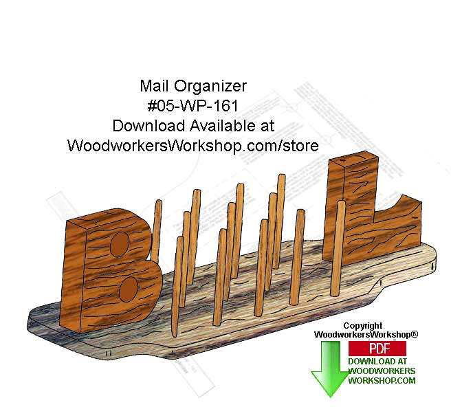 Mail Organizer Downloadable Scrollsaw Woodcrafting Pattern