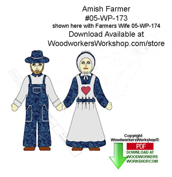 Amish Farmer Downloadable Scrollsaw Woodworking Patterns