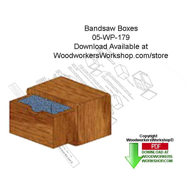 05-WP-179 - Bandsaw Boxes Downloadable Scrollsaw Woodworking Patterns PDF