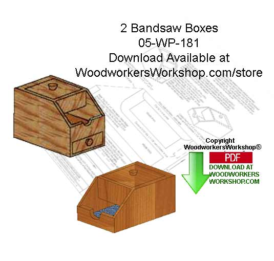 2 Bandsaw Boxes Downloadable Scrollsaw Woodworking Patterns