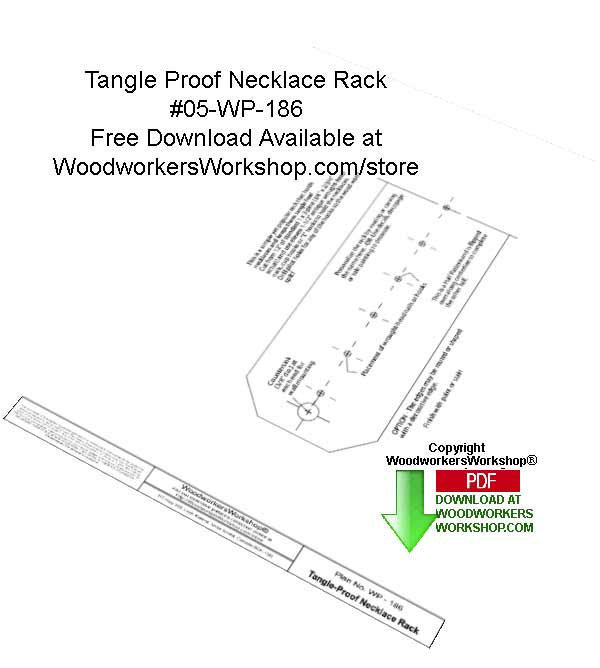 Tangle Free Necklace Rack Downloadable Scrollsaw Free Woodcraft Pattern