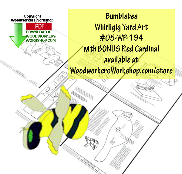 05-WP-194 - Bumblebee Downloadable Scrollsaw Woodworking Plan PDF