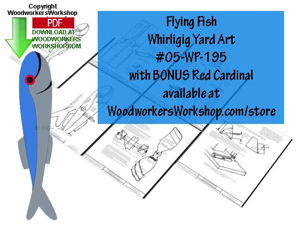 05-WP-195 - Flying Fish Downloadable Scrollsaw Woodworking Plan PDF
