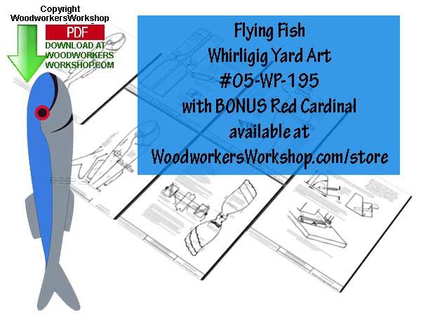 Wiriligig Wood Printable Devianart: Flying Fish Downloadable Scrollsaw Woodworking Plan