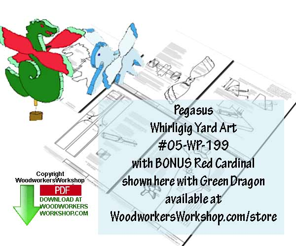 05-WP-199 - Pegasus with Bonus Cardinal Whirligig Scrollsaw Woodworking Plan PDF